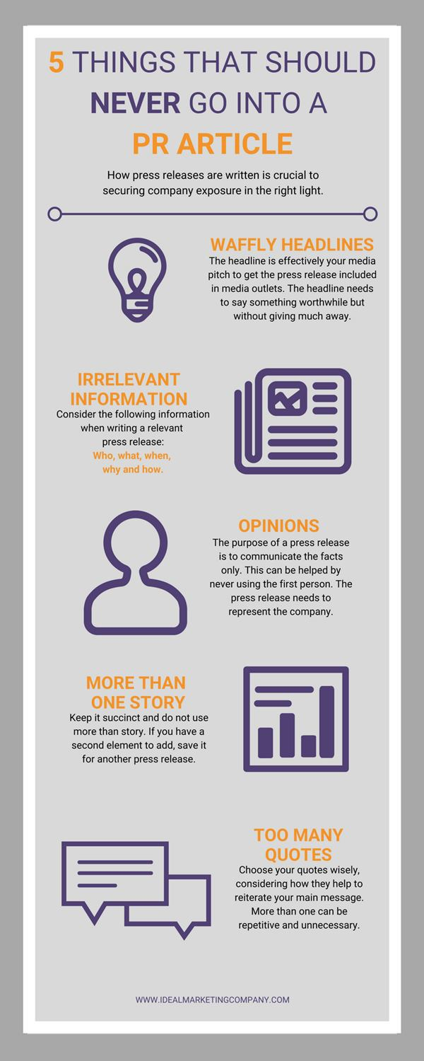 PR writing tips infographic