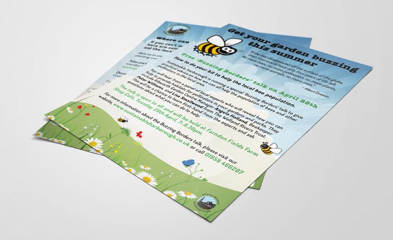 Buzzing Borders flyer design
